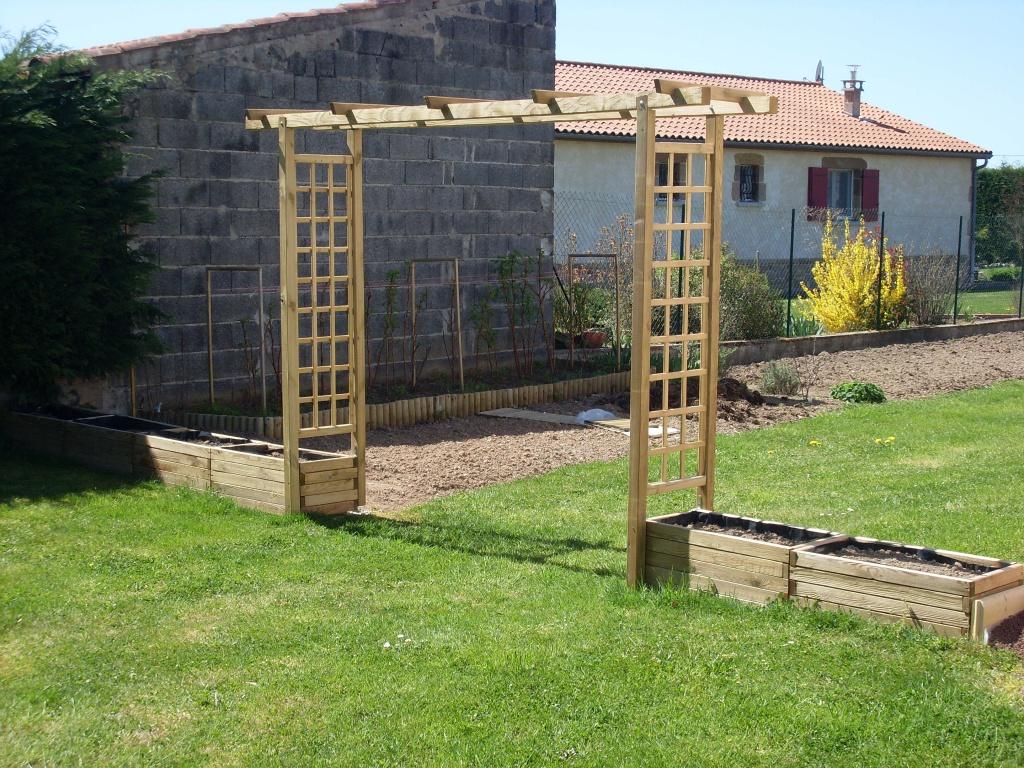 Realisation d 39 une arche fleurie au jardin forum de jardinage - Arche pour rosier grimpant ...